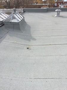 Ventilation toiture plat Montréal Les Toitures Élastomères photo
